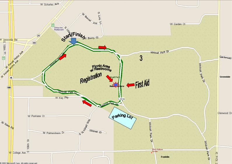 Whitnall Park Race Map
